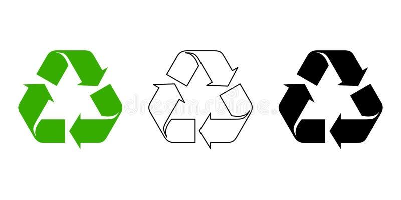 回收符号 也corel凹道例证向量 库存例证