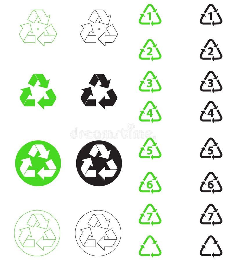 回收符号 皇族释放例证