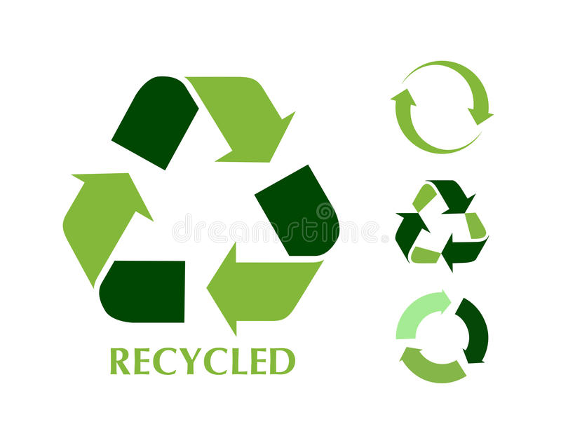 回收符号 库存例证