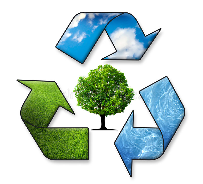 回收符号 向量例证
