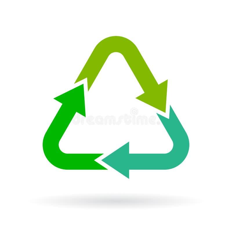回收箭头传染媒介标志 向量例证