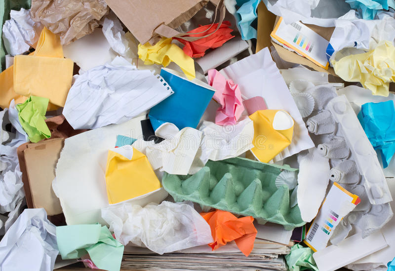 回收纸 免版税库存图片