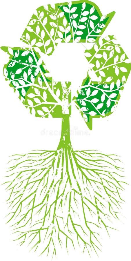 回收结构树 向量例证