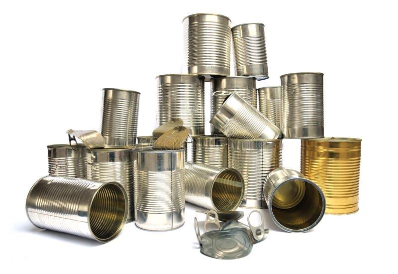 回收罐子 库存图片