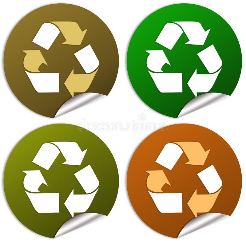 回收贴纸 库存例证