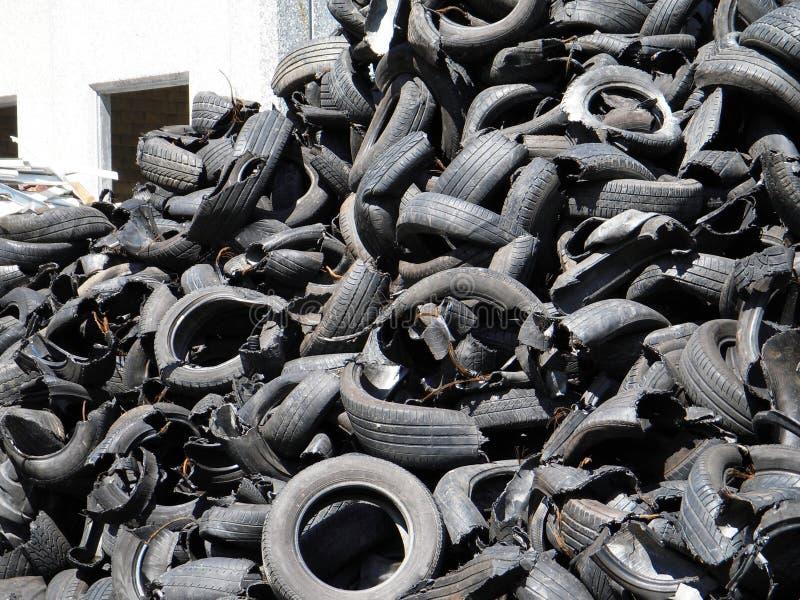 回收轮胎 免版税库存照片