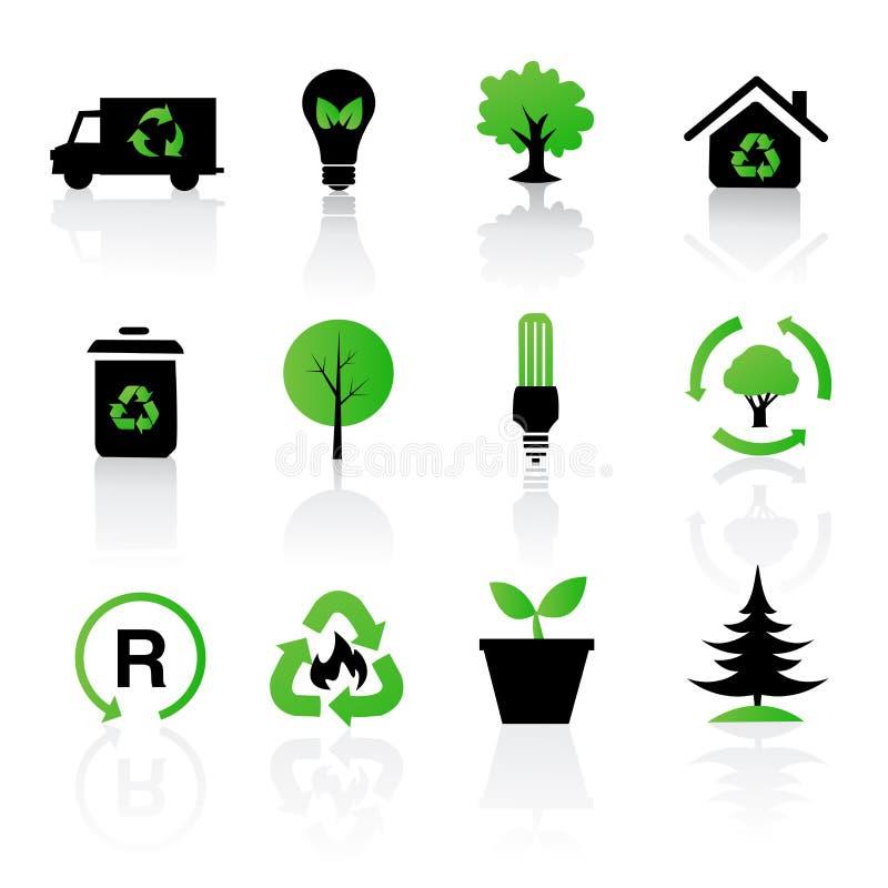 回收集的环境图标 向量例证