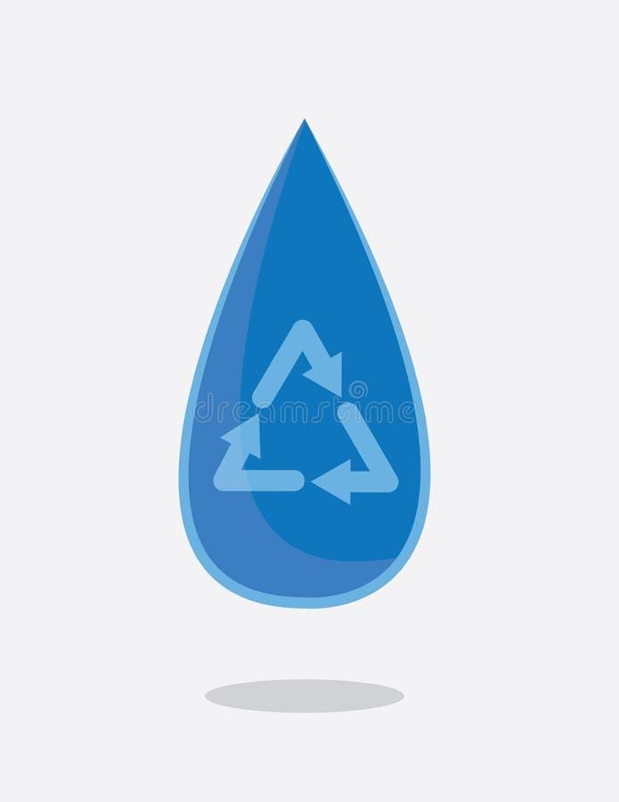 水滴回收 库存例证