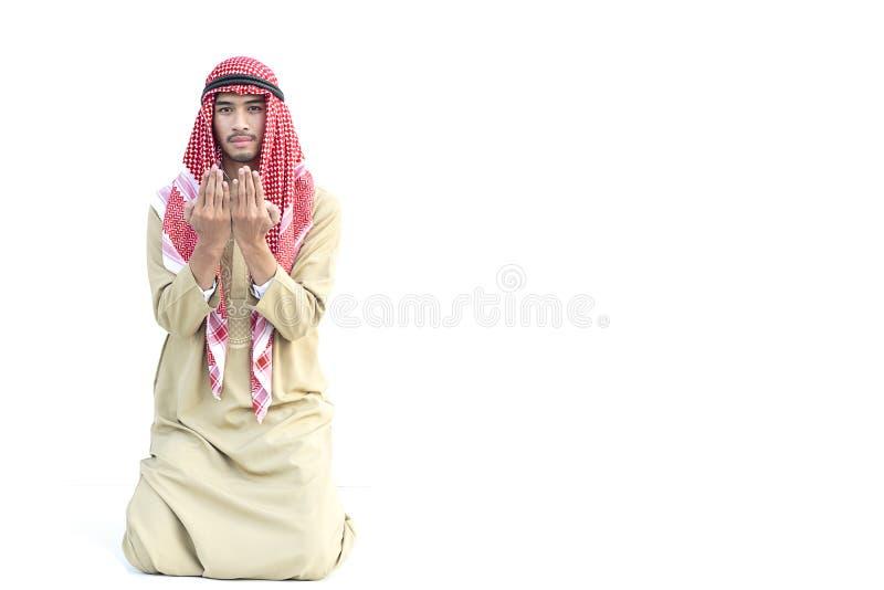回教人祈祷 库存图片