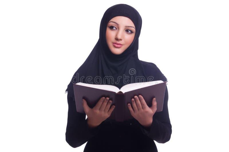 回教少妇佩带的hijab 库存图片