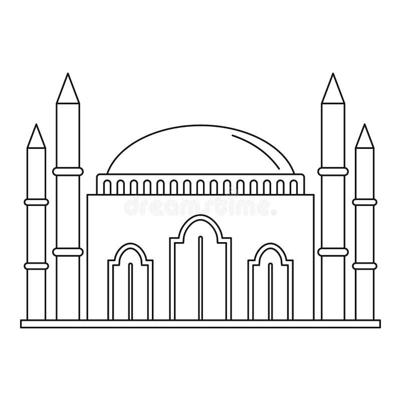 回教清真寺象,概述样式 向量例证