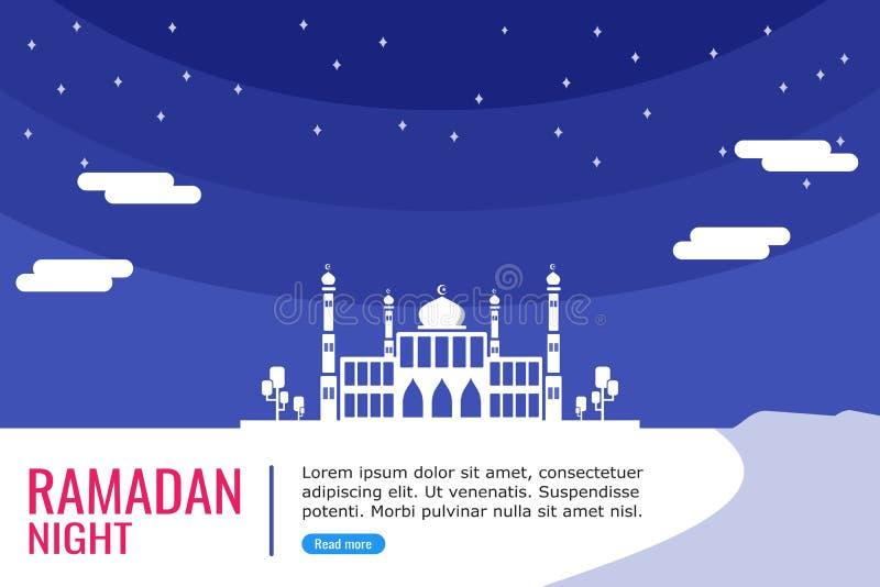 回教祷告的大清真寺 皇族释放例证