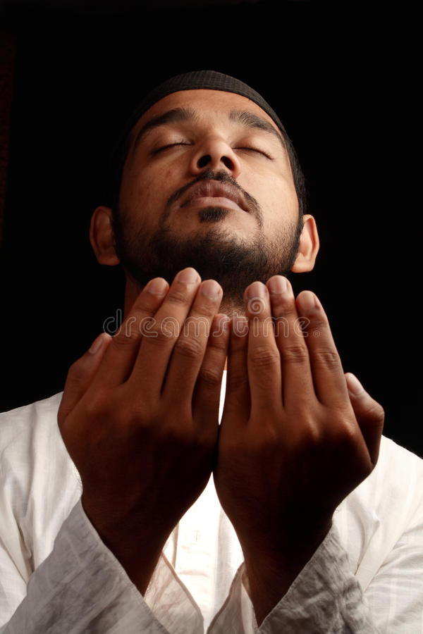 回教祷告 免版税库存照片