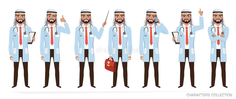 回教阿拉伯医生人字符 向量例证