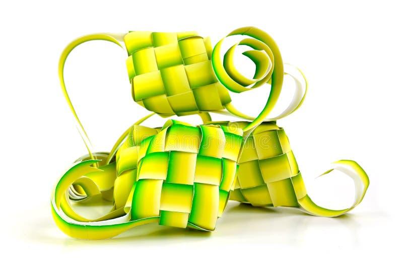 回教ketupat (米饺子) 免版税库存图片