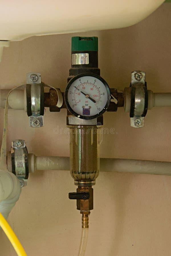 回流滤水器减压器测压器 库存照片