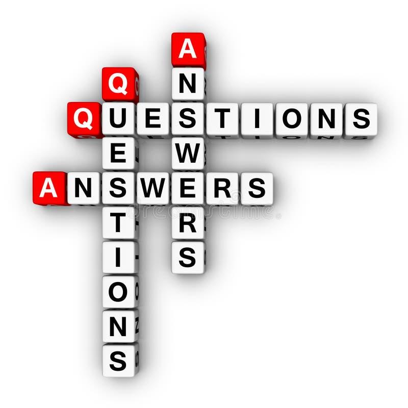 回答问题 库存例证