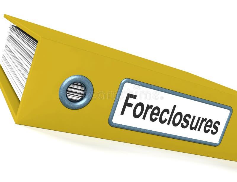 回赎权的取消归档显示破产和赶出 库存例证