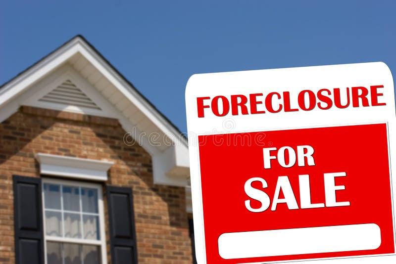 回赎权的取消房子销售额 免版税库存图片