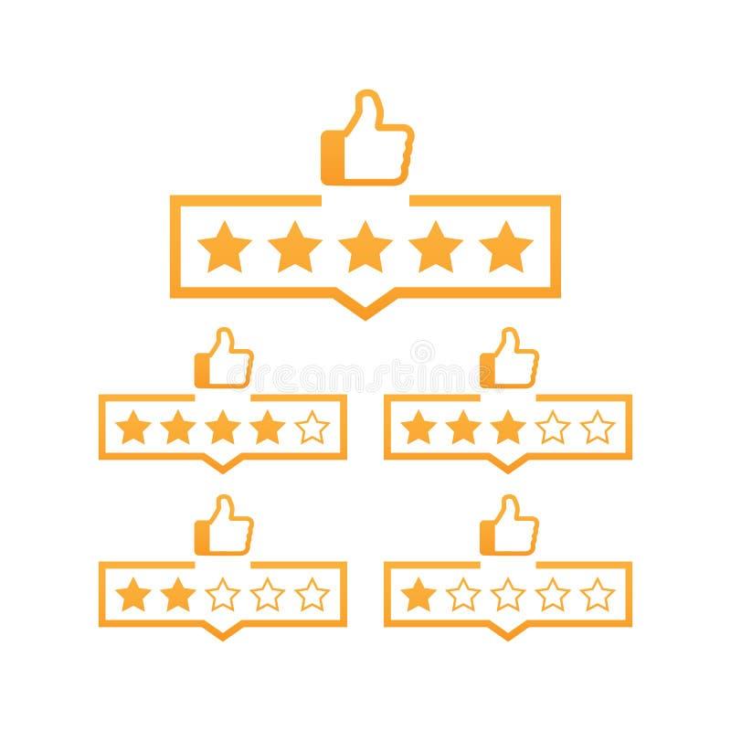 回顾星规定值标志 对平的象估计的消费者 也corel凹道例证向量 向量例证