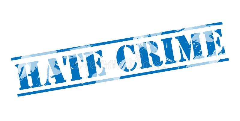 因仇恨造成的犯罪蓝色邮票 向量例证