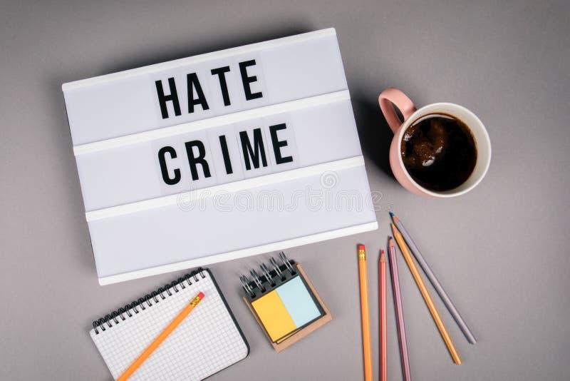 因仇恨造成的犯罪 E 免版税库存照片