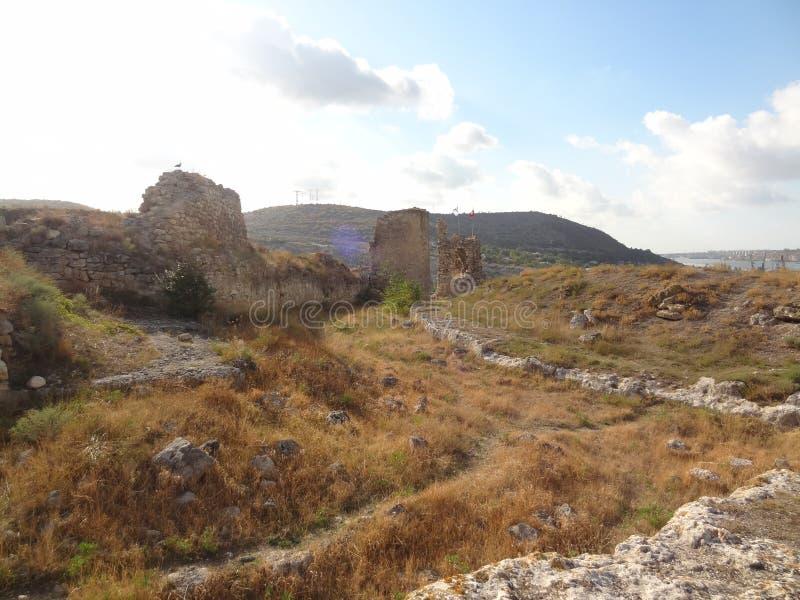 因克尔曼,塞瓦斯托波尔,Kalamita堡垒 免版税库存照片