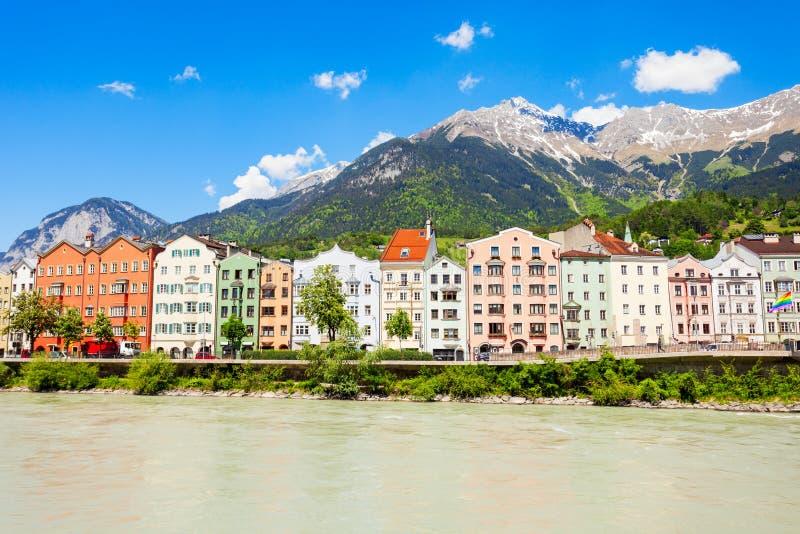 因斯布鲁克堤防在奥地利 免版税图库摄影