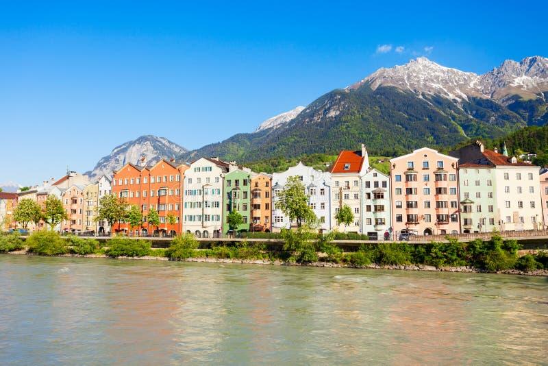 因斯布鲁克堤防在奥地利 库存图片
