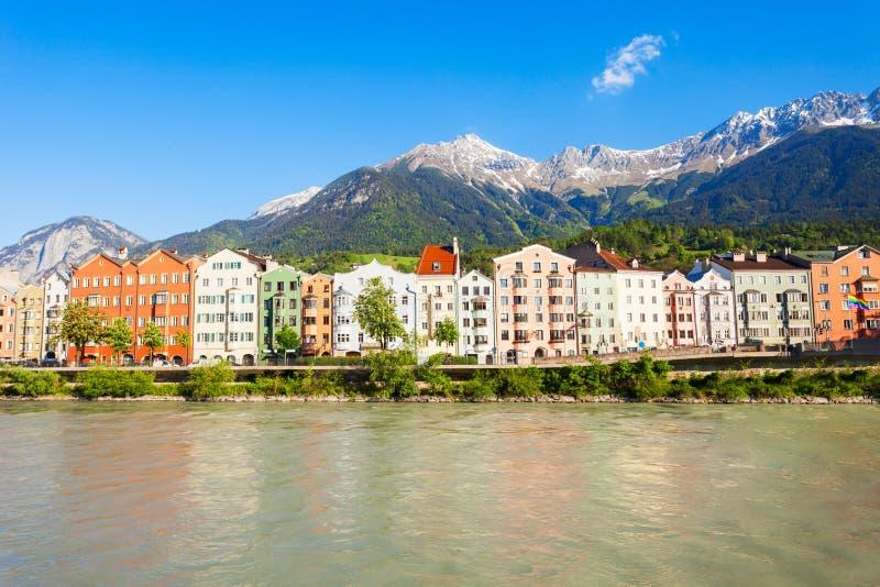因斯布鲁克堤防在奥地利 免版税库存照片
