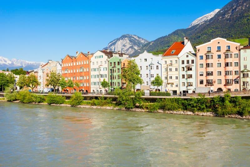 因斯布鲁克堤防在奥地利 库存照片