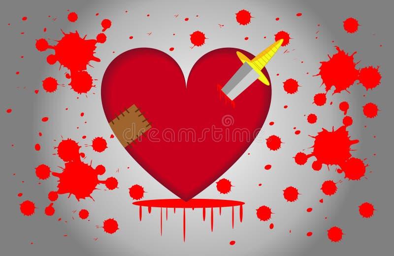 因此很损害的心脏 免版税库存照片