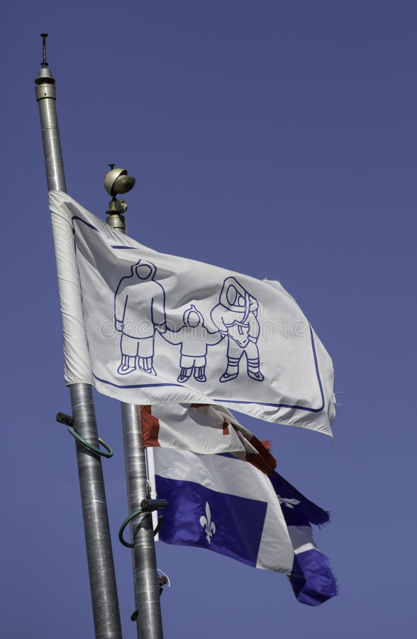 因纽特人旗子 免版税库存照片