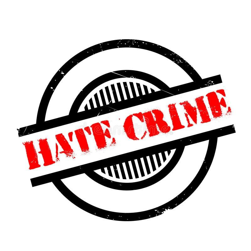 因仇恨造成的犯罪不加考虑表赞同的人 向量例证