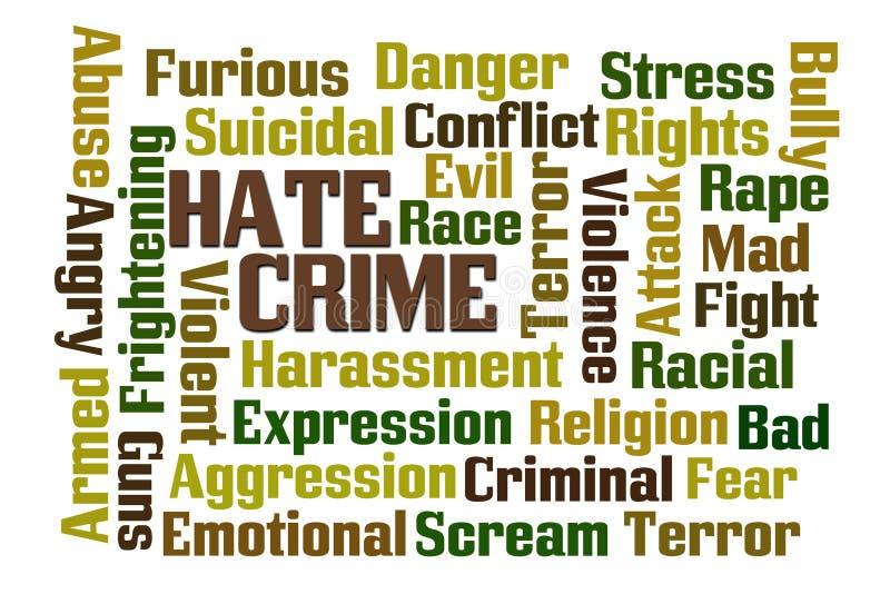 因仇恨造成的犯罪 库存例证