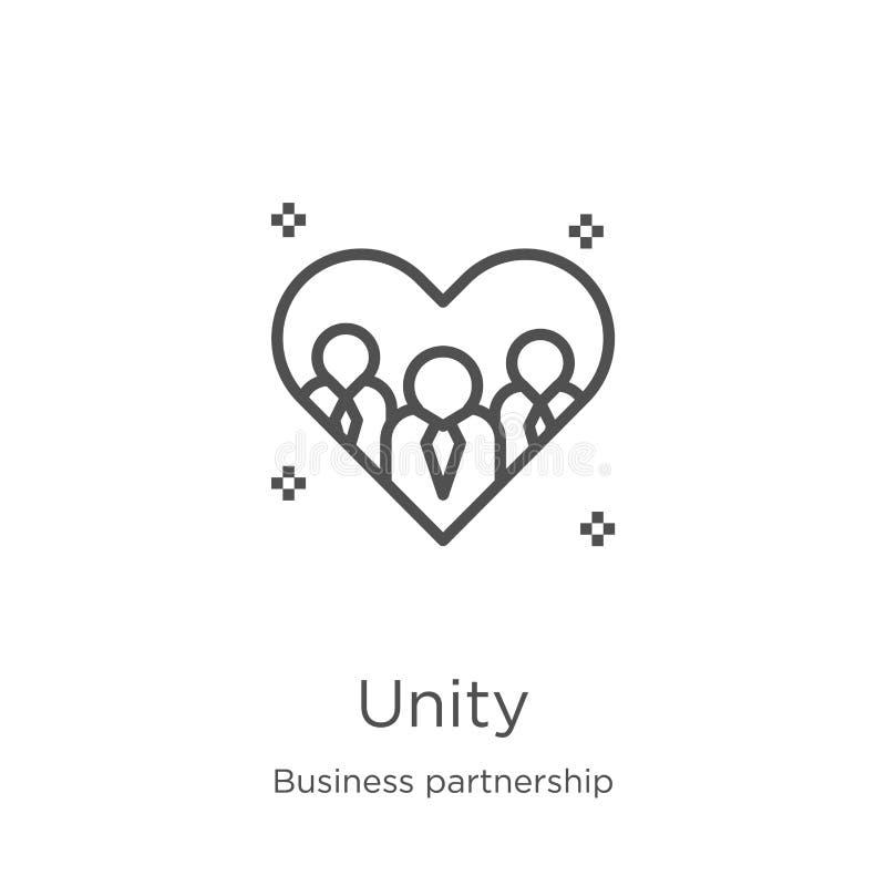 团结从企业合作汇集的象传染媒介 稀薄的线团结概述象传染媒介例证 概述,稀薄的线团结 库存例证