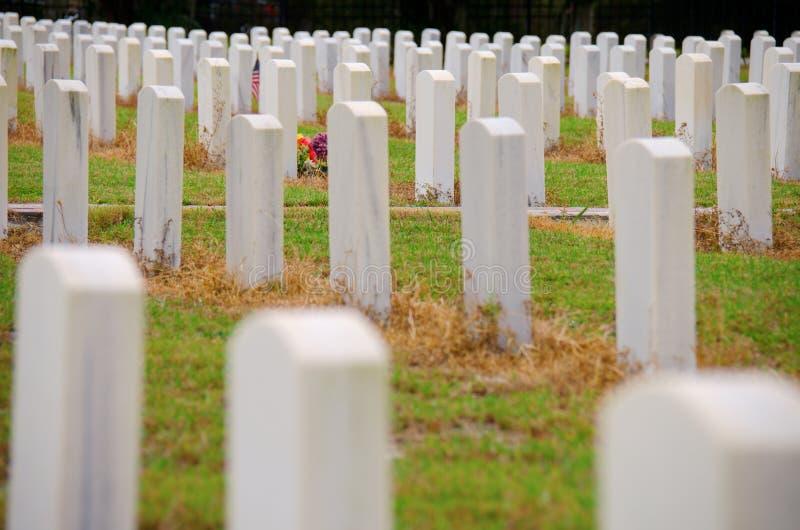 团结状态军事纪念墓地 免版税库存图片