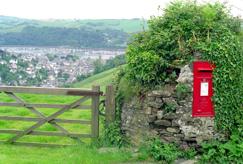 团结的乡下德文郡英国王国 库存图片