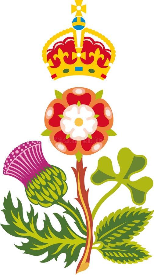 团结的徽章英国极大王国皇家 皇族释放例证