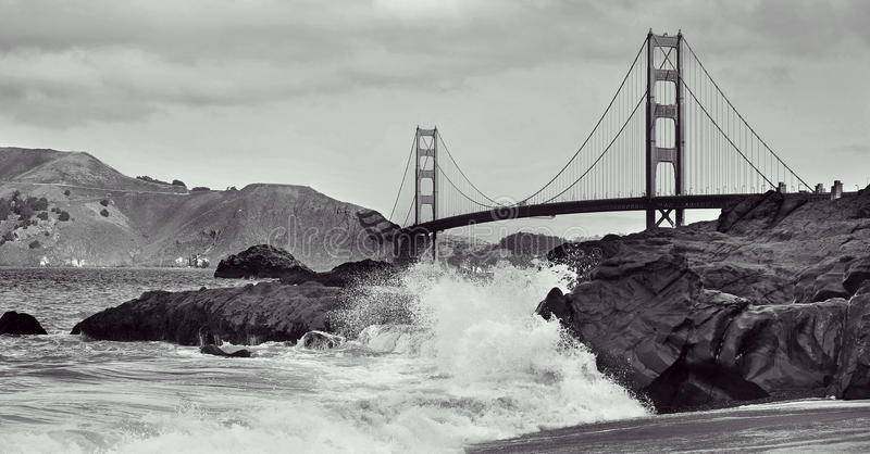 团结的桥梁弗朗西斯科门金黄圣状态 免版税库存图片