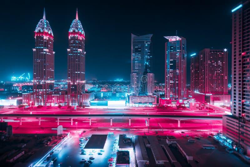 团结的阿拉伯城市迪拜酋长管辖区 库存照片