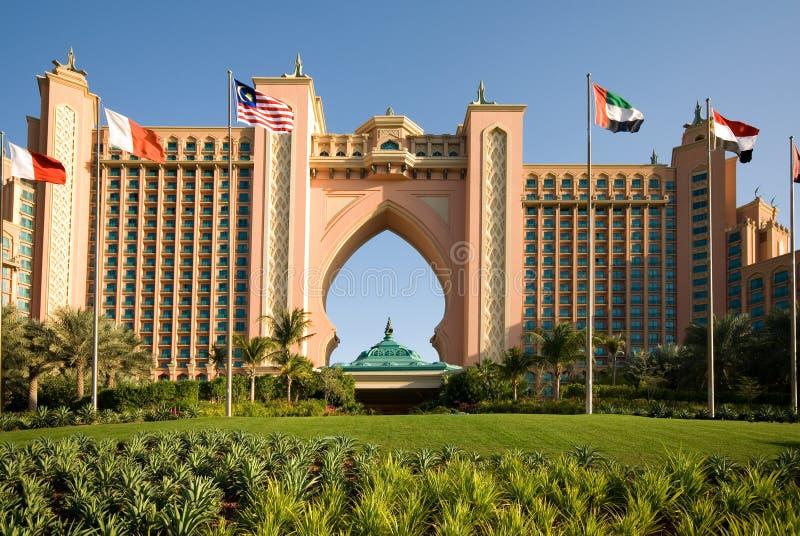 团结的阿拉伯迪拜旅馆豪华 库存照片