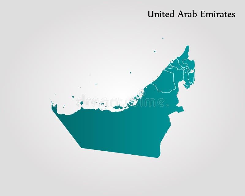 团结的阿拉伯酋长管辖区映射 皇族释放例证