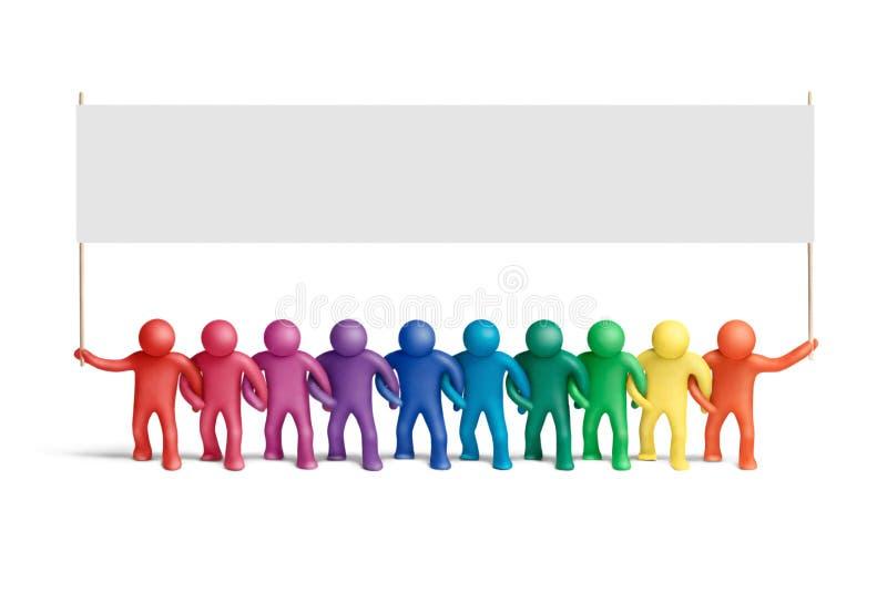 团结的15个颜色 库存图片