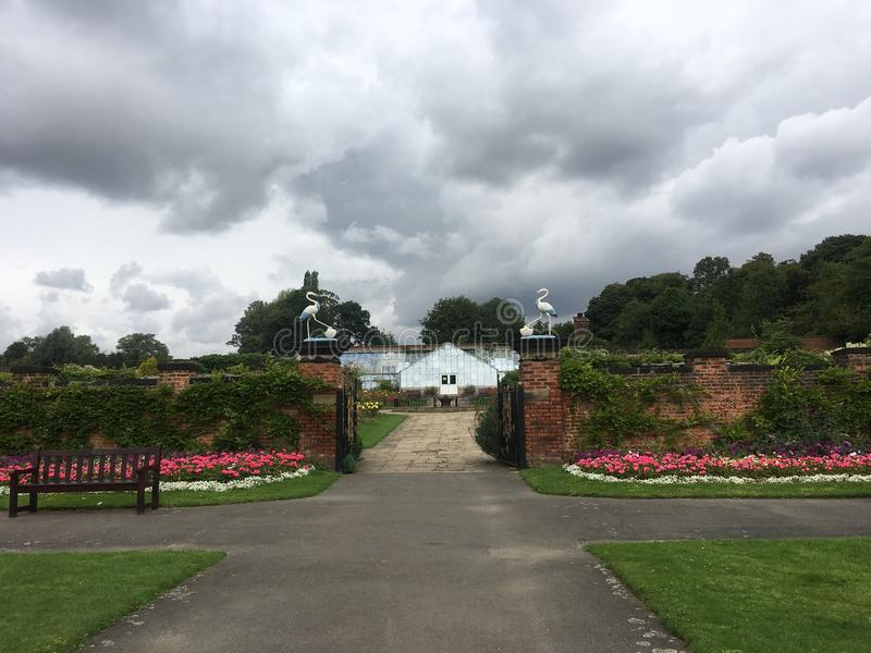 团结的Kingodm,约克夏, Thornes公园,玫瑰园 库存照片