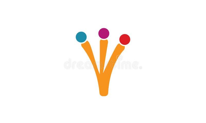 团队工作商标-树团队工作联合人商标模板圆企业队团结的商标 库存例证