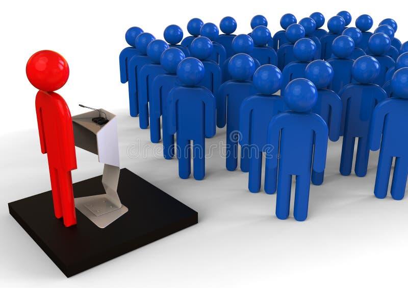 团队负责人讲话概念 向量例证