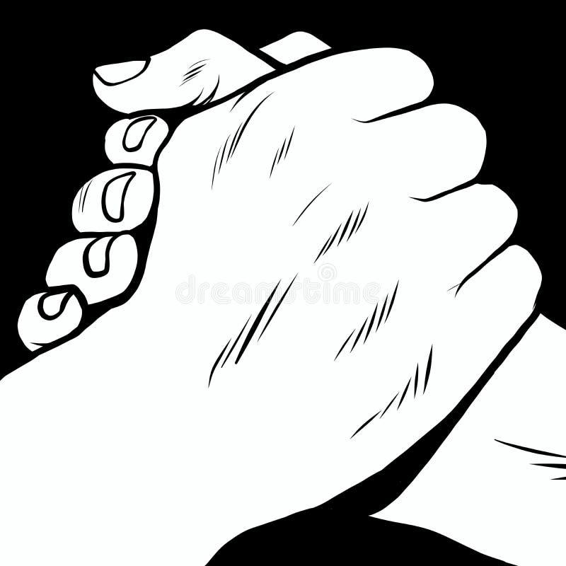 团结握手递流行艺术减速火箭的样式 armwrestling图片