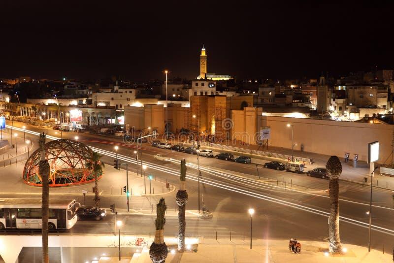 团结的民族广场在卡萨布兰卡 库存照片