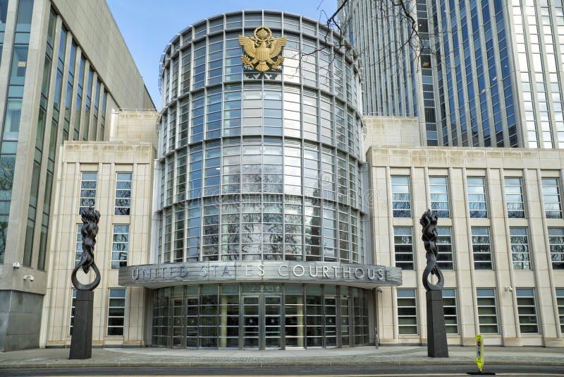 团结的状态法院大楼在布鲁克林 库存照片